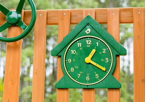 Lifestyle view of Fun Time Clock from Gorilla Playsets.