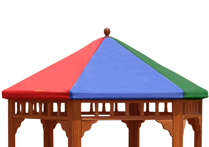 Studio view of Play-Zee-Bo Replacement Multi-Colored Tarp from Gorilla Playsets.