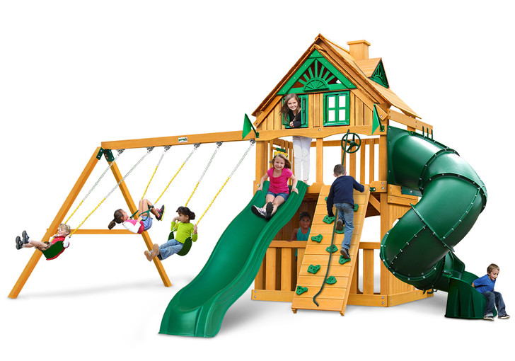 Studio shot of Mountaineer Clubhouse Playset from Gorilla Playsets