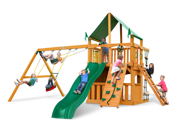 Studio shot of Chateau Clubhouse Playset from Gorilla Playsets