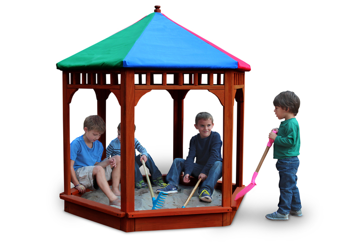 Play-Zee-Bo Covered Sandbox