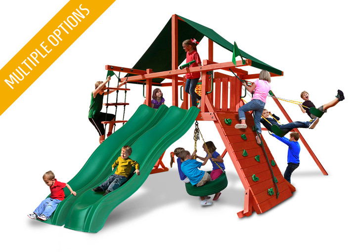 Studio shot  of Sun Climber Extreme Playset from Gorilla Playsets