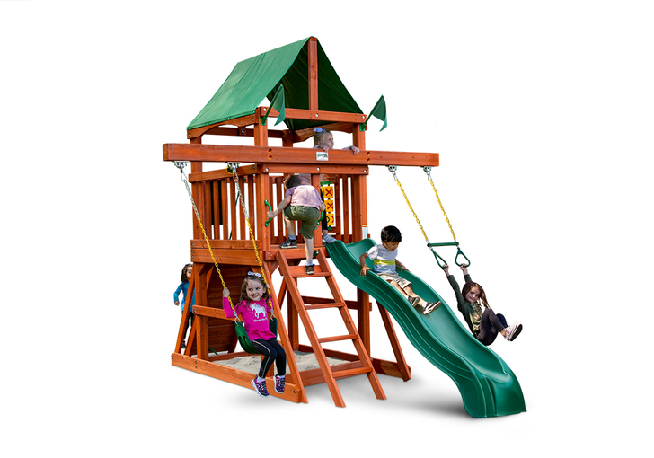 Studio shot of Five Star II Space Saver Playset from Gorilla Playsets