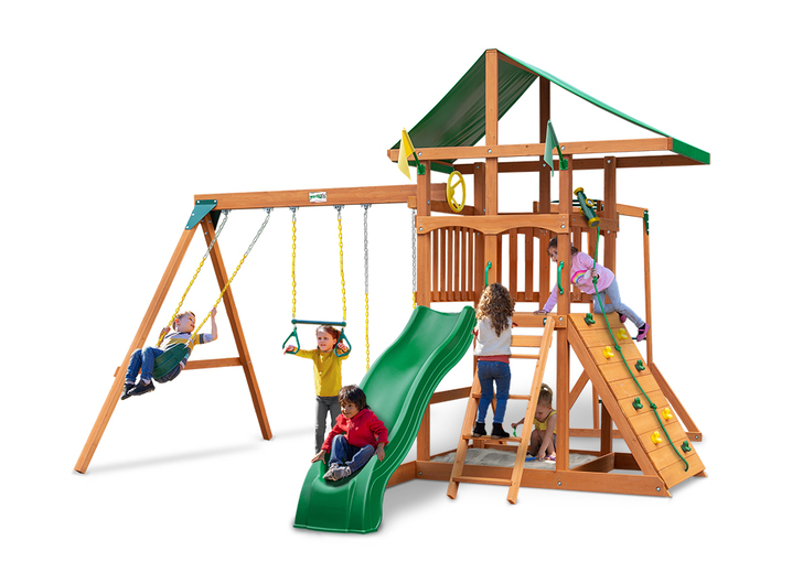 Studio shot of Outing IV w/ Monkey Bars Playset from Gorilla Playsets