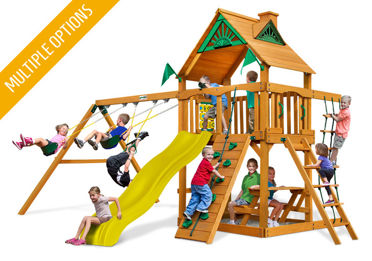 Studio shot of Chateau Wood Play set from Gorilla Playsets