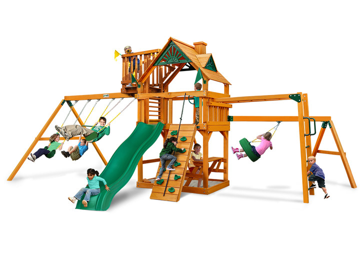 Studio view  of Homestead w/ Sky Loft Play set from Gorilla Playsets