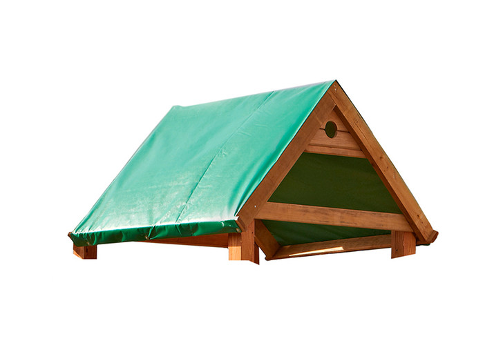"""Studio view of the 46"""" x 83"""" Green Replacement Tarp from Gorilla Playsets."""