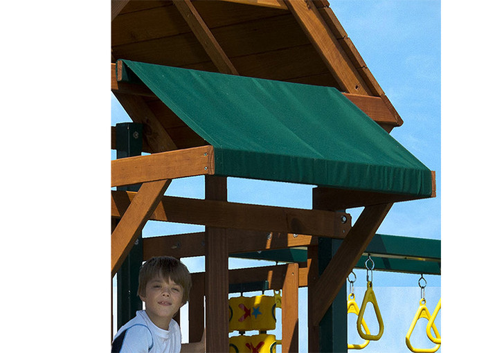 Outdoor view of Swing Set Canopy from Gorilla Playsets
