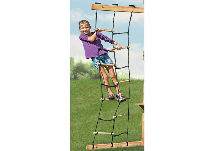 Lifestyle view of Hideaway Climbing Ladder from Gorilla Playsets