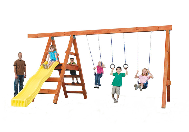 Studio view of the Pioneer Adventure DIY Play Set from Gorilla play sets