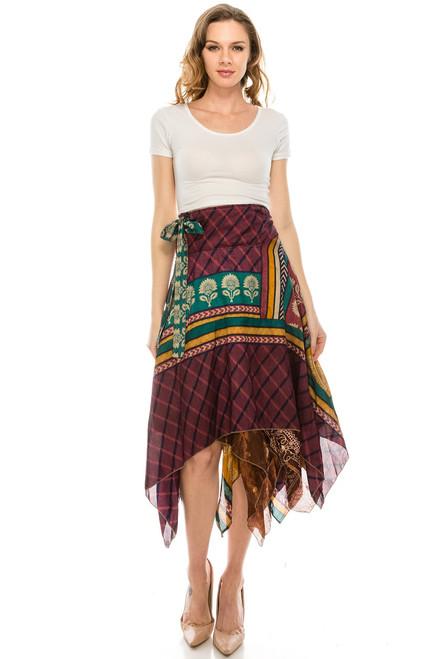 Diamond Wrap Skirt