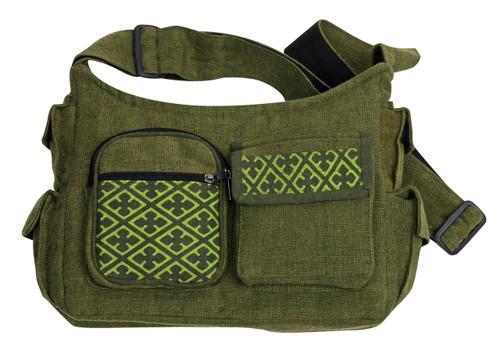 7 pocket shoulder bag with adjustable strap