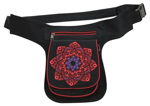Celtic Star Kaleidoscope print on a great hip bag With 3 pockets - adjustable strap