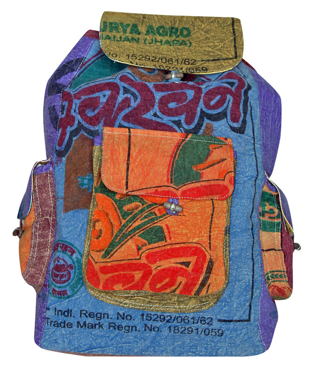 """P9-2  -  Cotton Rice Back Pack Assorted Colors 17"""" x 20"""""""