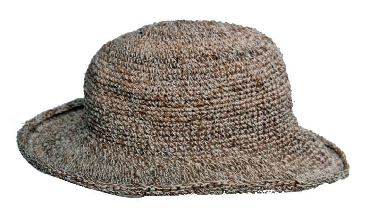 PHC  -  Hemp Hat 60%/40% with secret pocket - short brim