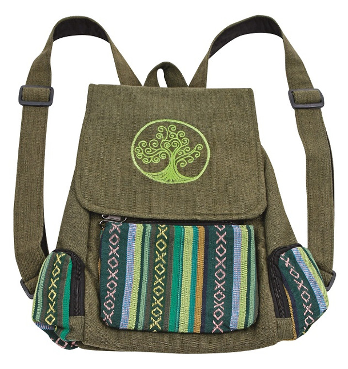 Blossom embroidery Tree of Life - 3 pocket back pack