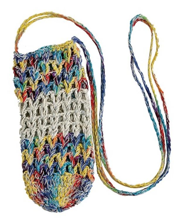 Crocheted Hemp Water Bottle Sling