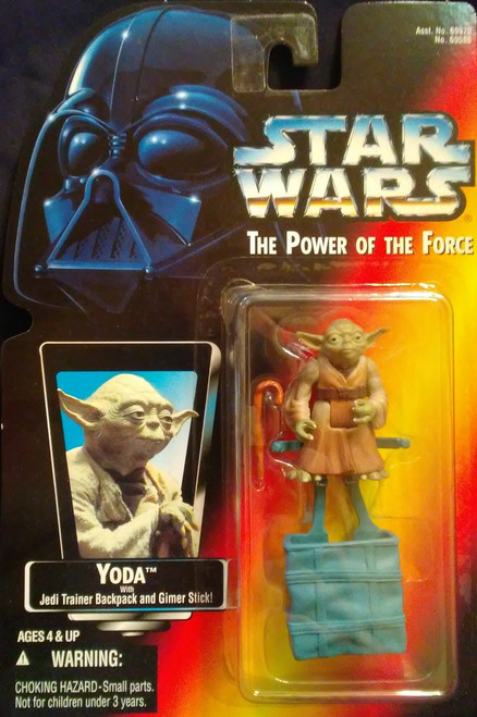 Kenner Star Wars Yoda With Jedi Trainer Backpack And Gimer Stick Action Figure