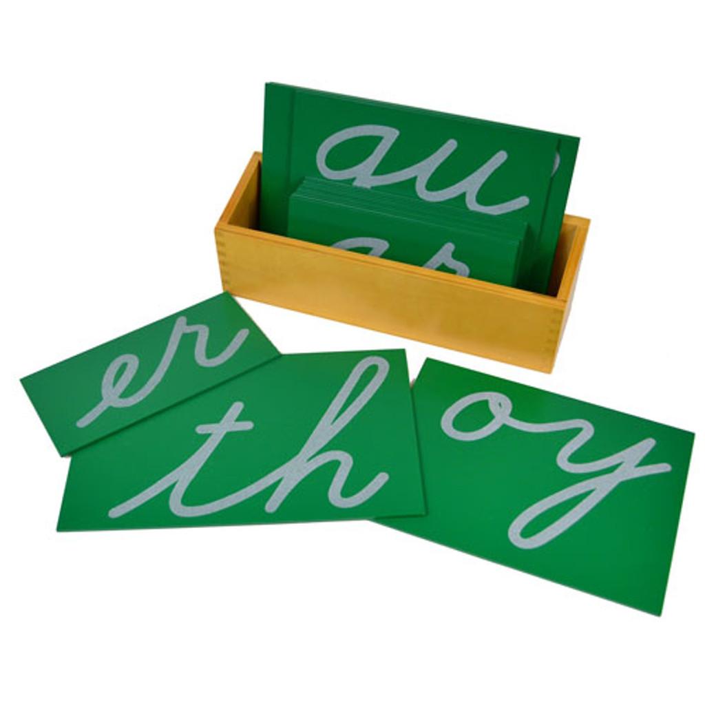 Sandpaper Letters - digraph, cursive