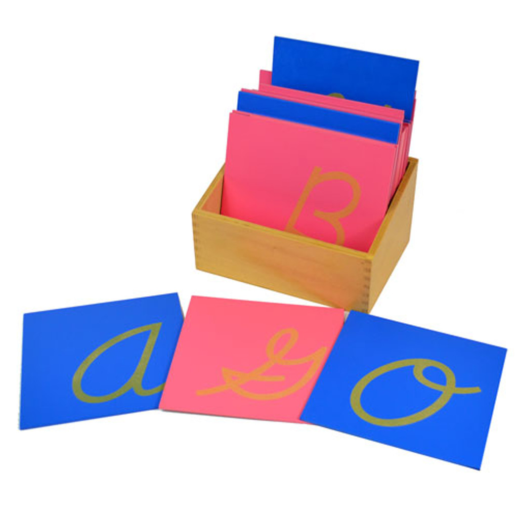 Sandpaper Letters - capital, cursive