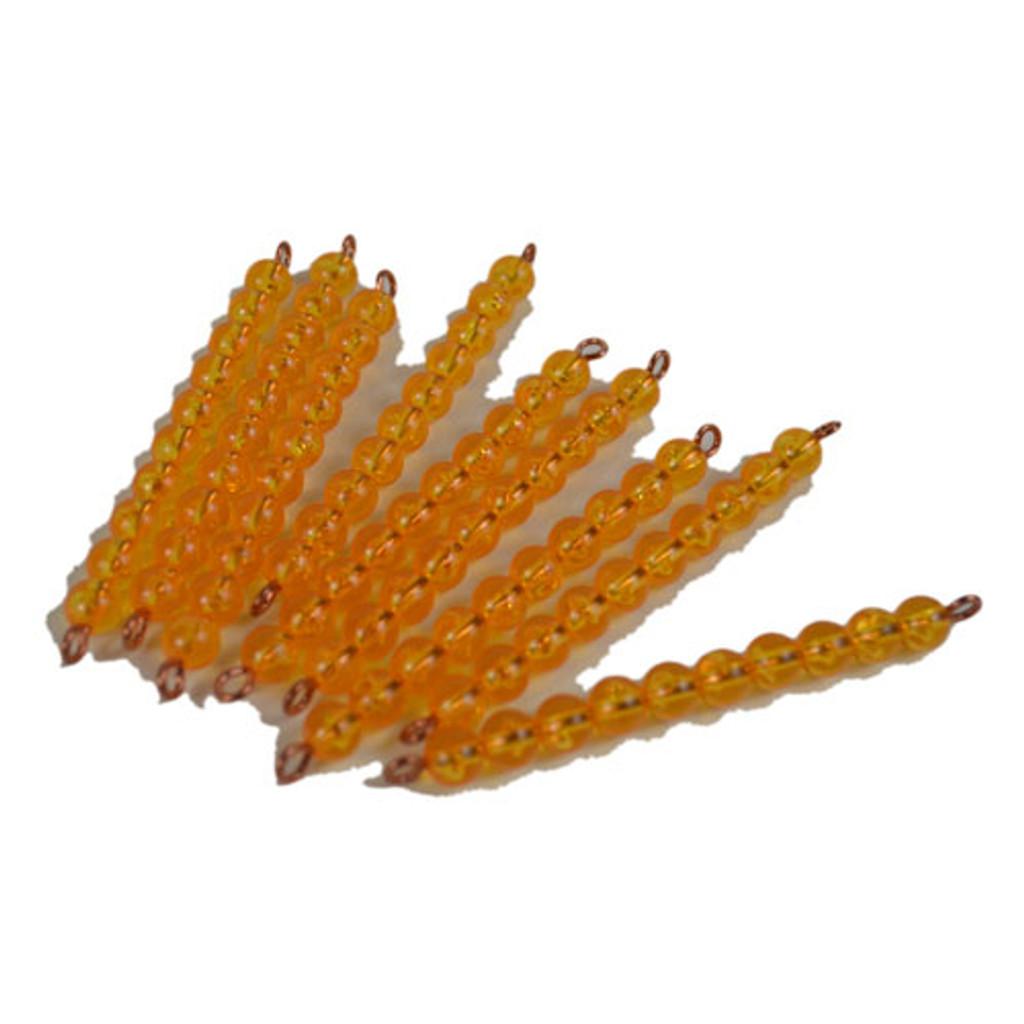 Golden Bead Bars of Ten