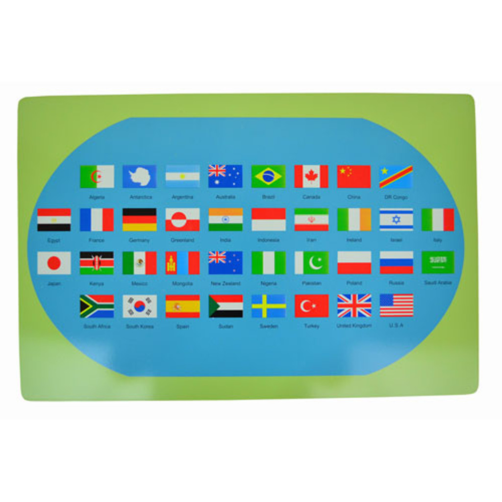 World Map with Flags