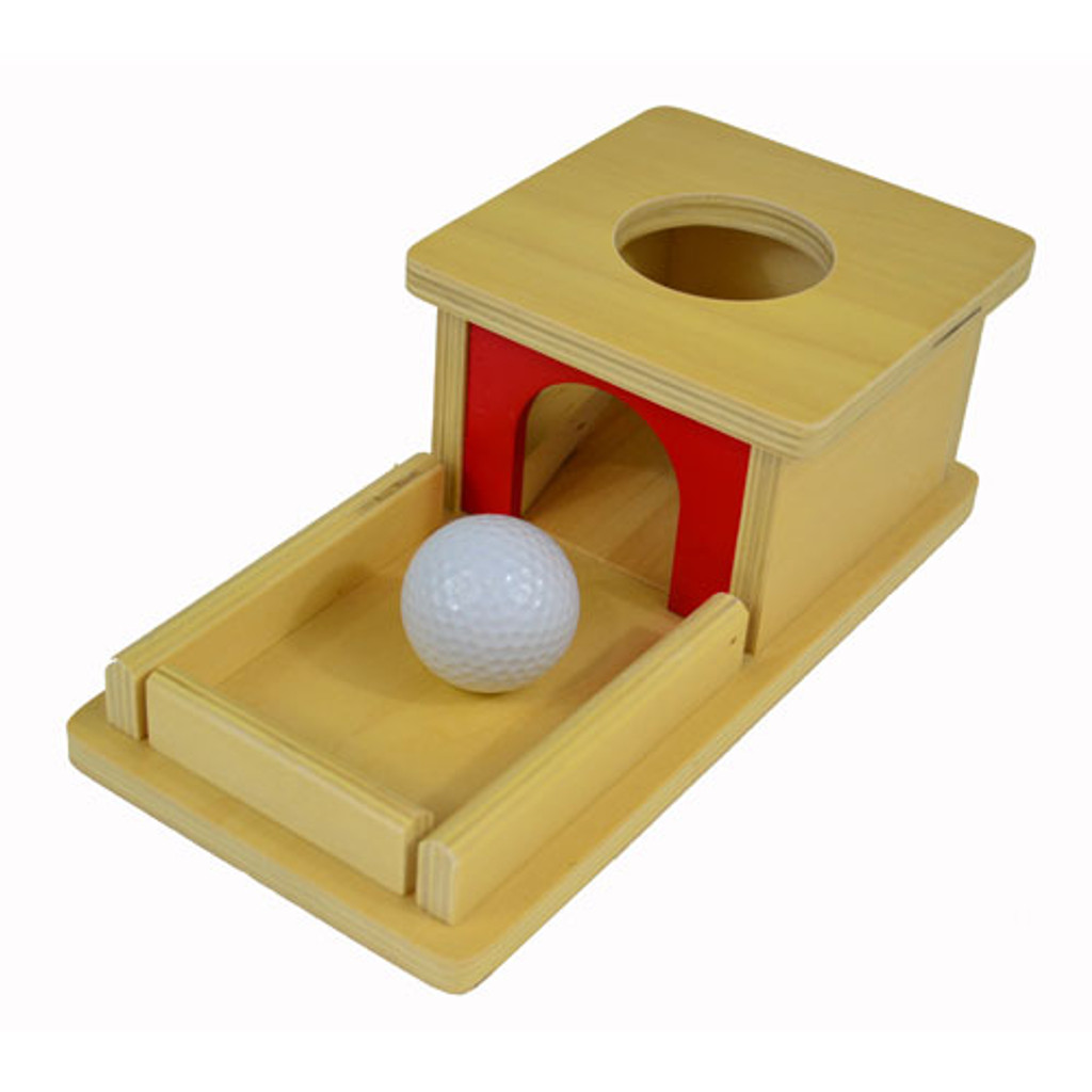 Object Permanence Box with Tray