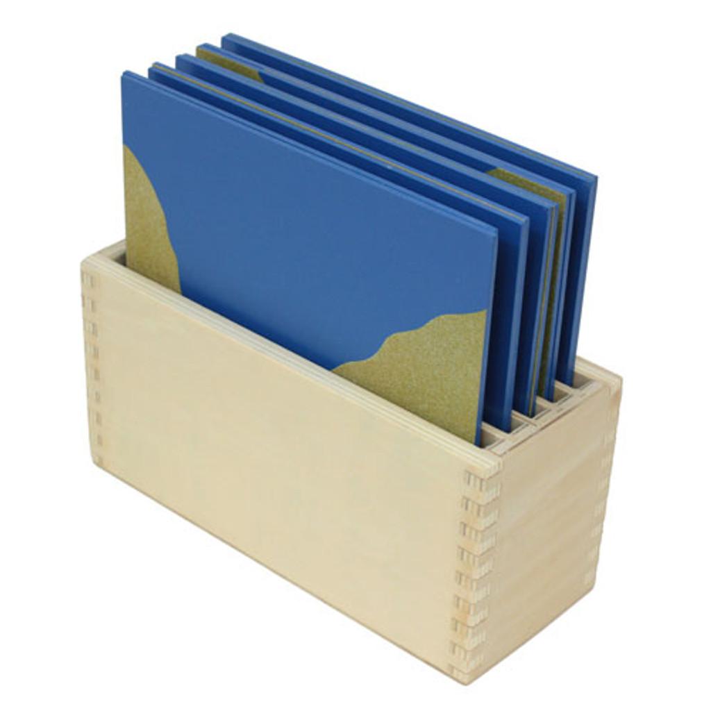 Sandpaper Land Form Cards