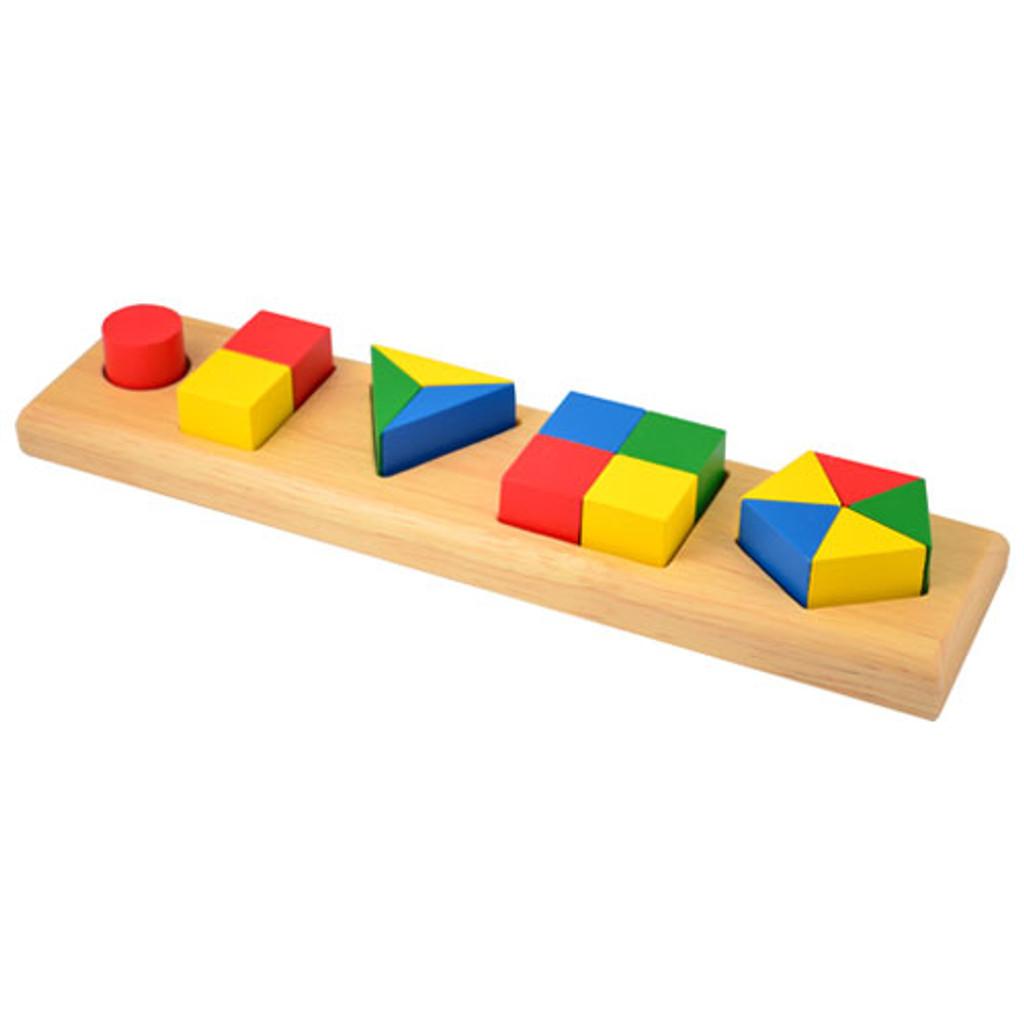 Fraction Bricks - Five Shapes
