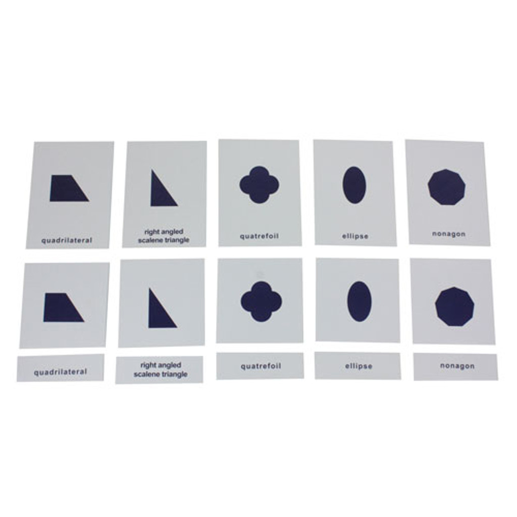 Geometry Cabinet Nomenclature Cards