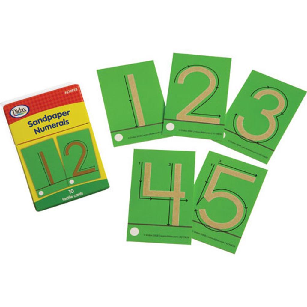 Sandpaper Numerals 0-9