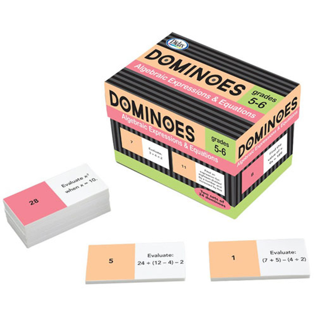 Algebraic Expressions & Equations Dominoes