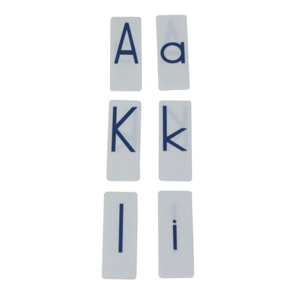 Printed Alphabet - Blue