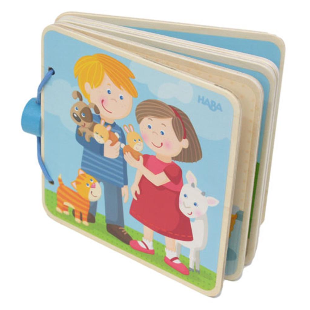 Wooden Baby Book - Animal Kids