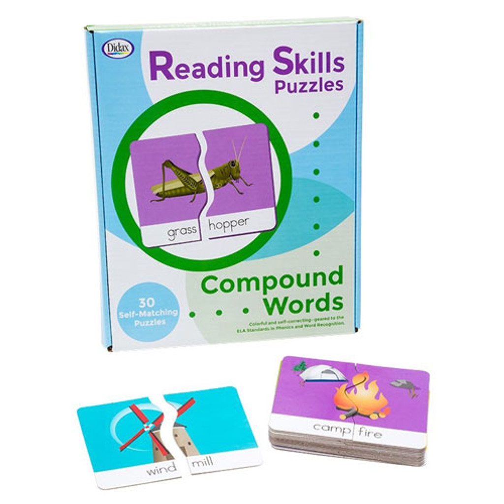 Compound Words Reading Skills Puzzles