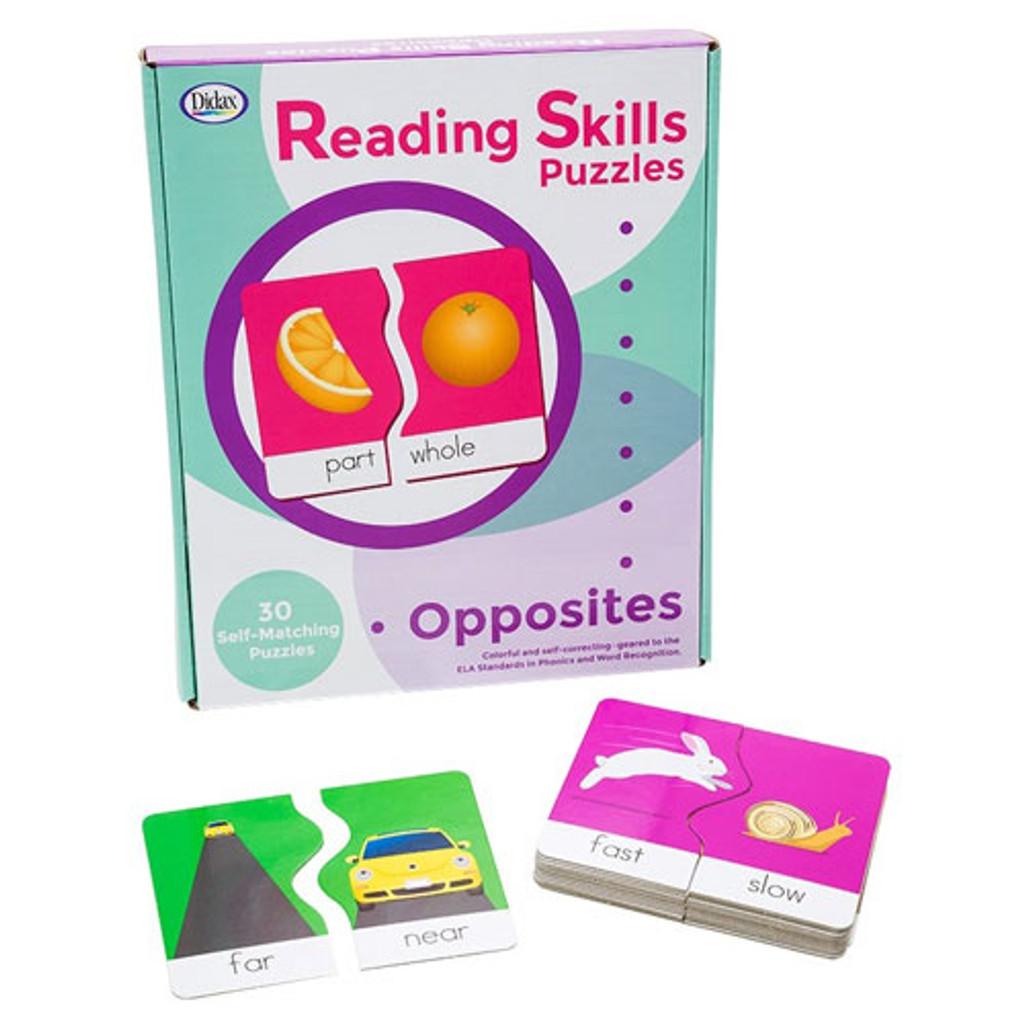 Opposites Reading Skills Puzzles