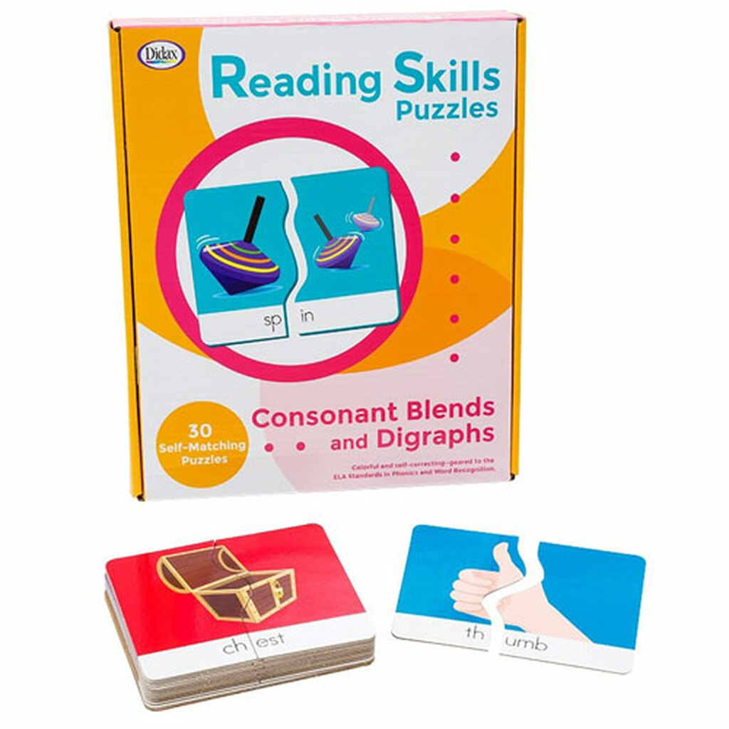 Consonant Blends Reading Skills Puzzles