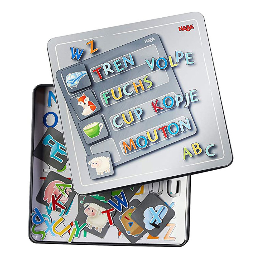 Magnetic Alphabet Game Tin