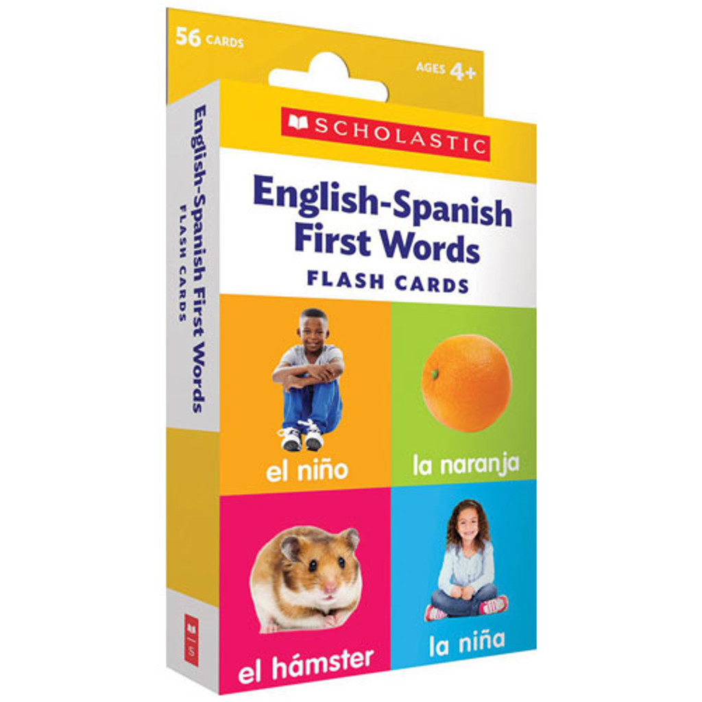 English-Spanish First Words Flash Cards