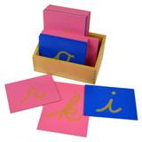 Sandpaper Letters - lower case, cursive