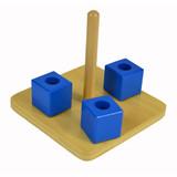 Cubes on Vertical Dowel