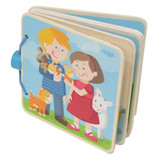 Wooden Baby Book - Animal Kids