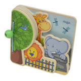 Wooden Baby Book - Zoo Friends