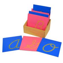Sandpaper Letters - capital, cursive