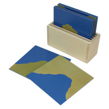 Sandpaper Land Form Cards