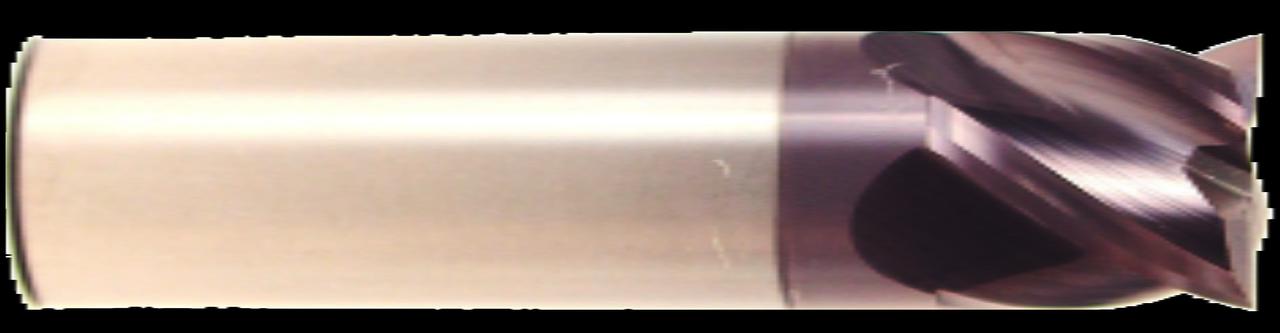 4 Flute, Stub Length, AlTiN Coated Carbide End Mill   RTJTool.com