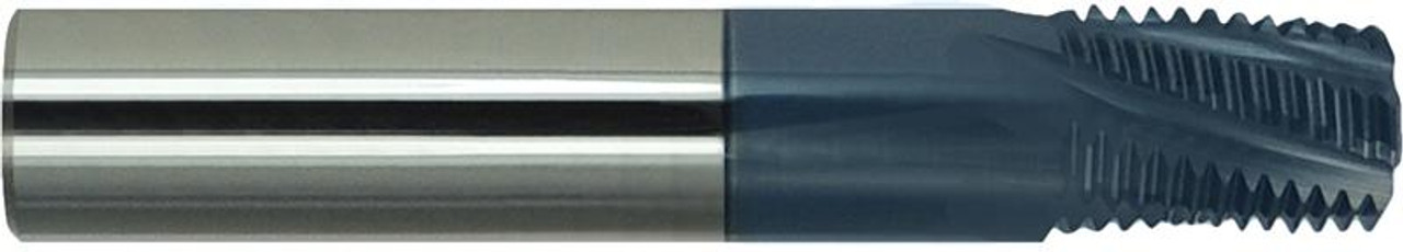 "1/8"" BSPP, AlTiN Coated Carbide Thread Mill   RTJTool.com"
