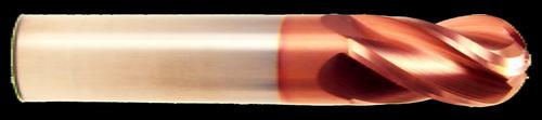 3 Flute Ball Nose Carbide End Mill   RTJTool.com