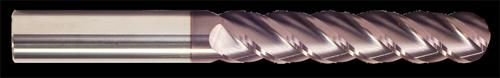 4 Flute, Ball Nose, AlTiN Coated, Carbide End Mill | RTJTool.com