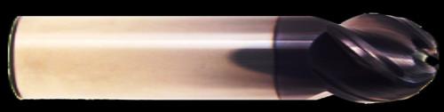 4 Flute, AlTiN Coated, Ball Nose, Stub Length, HTC Hot Mill | RTJTool.com